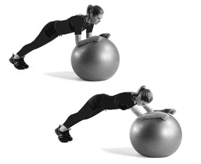 تمرین با توپ سوئیسی - لاغری پهلو و شکم - باریک شدن کمر
