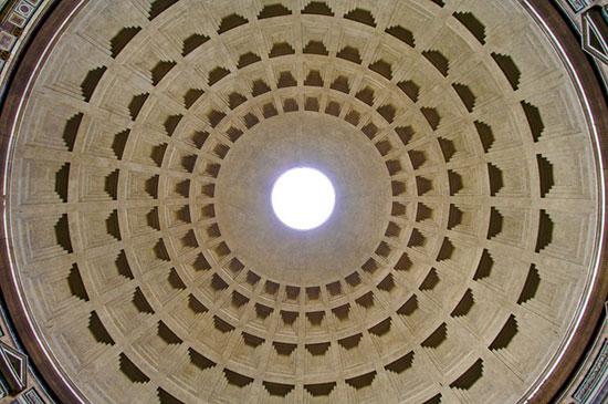 معبد پانتئون - زیباترین سقف های جهان - معماری