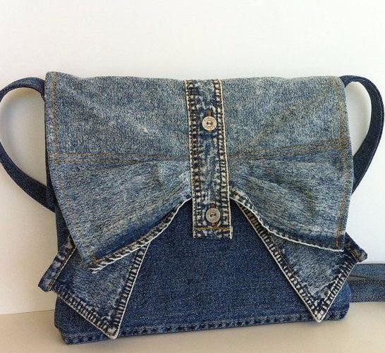 استفاده از شلوار جین قدیمی - دوخت کیف - مدل کیف جین