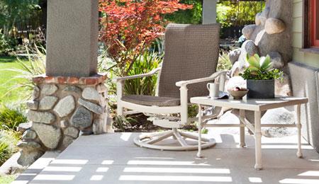 میز و صندلی حیاط - مبلمان های فلزی شیک - میز و صندلی غذاخوری - مدل مبلمان راحتی
