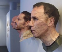 آثار هنری سه بعدی - پرتره های سه بعدی کاغذی