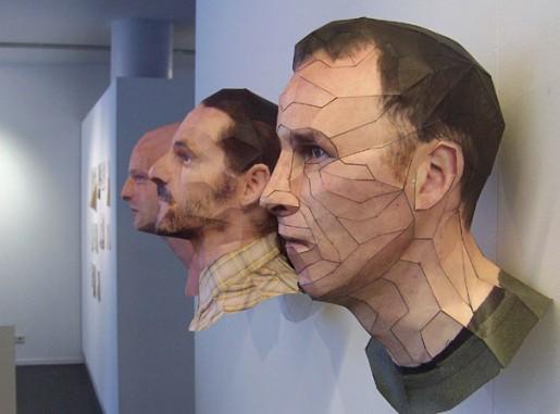 آثار هنری سه بعدی - پرتره های کاغذی