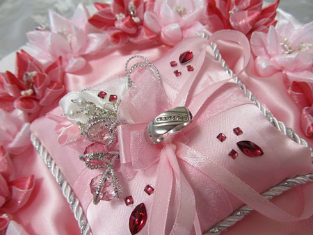 مدل جا حلقه ای عروس - تزیین جا حلقه ای عروس