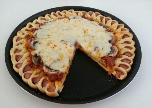 پیتزا گل صدپر - پیتزا به شکل گل