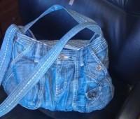 آموزش خیاطی , آموزش دوخت کیف از شلوار جین قدیمی