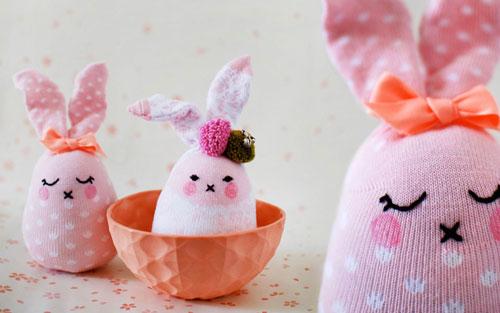 آموزش تصویری ساخت عروسک خرگوش با جوراب - آموزش عروسک سازی