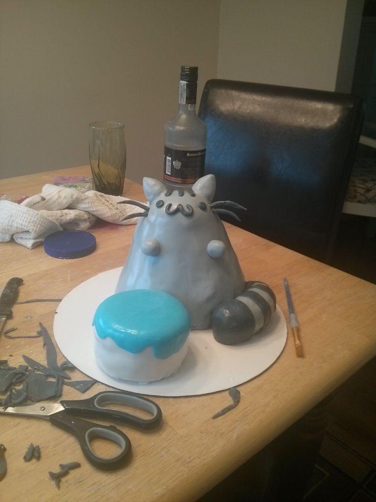 تزئین کیک به شکل گربه - آموزش تزئین کیک تولد