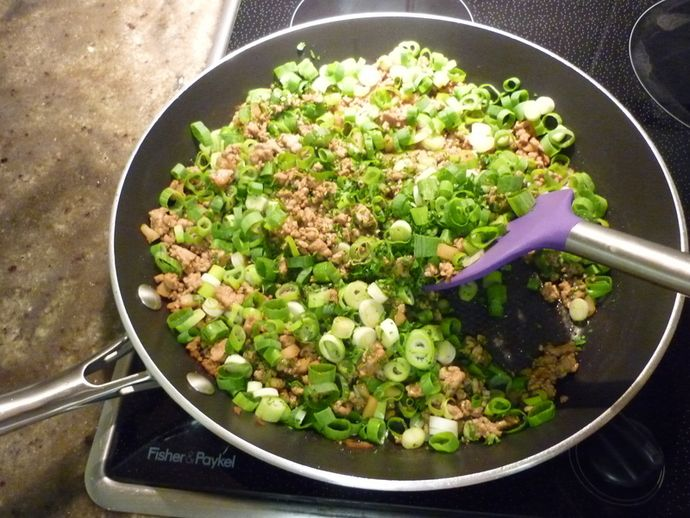 سان چوی بو ( غذای چینی )San Choy Bau