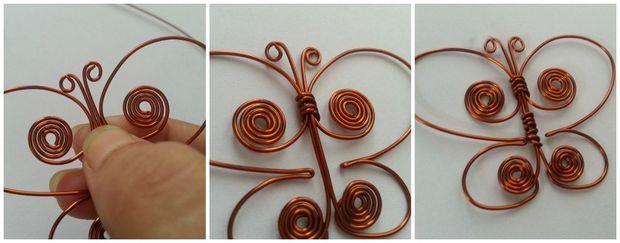 ساخت آویز گردنبند پروانه ای - آموزش ساخت زیورآلات  - ساخت گردن آویز با سیم