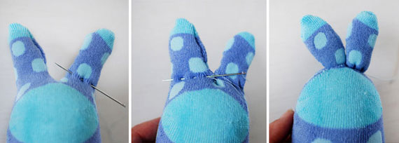 خرگوش های جورابی بسازید