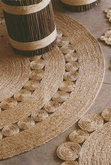درست کردن پادری های کنفی, آموزش ساخت فرش تزیینی با نخ کنفی