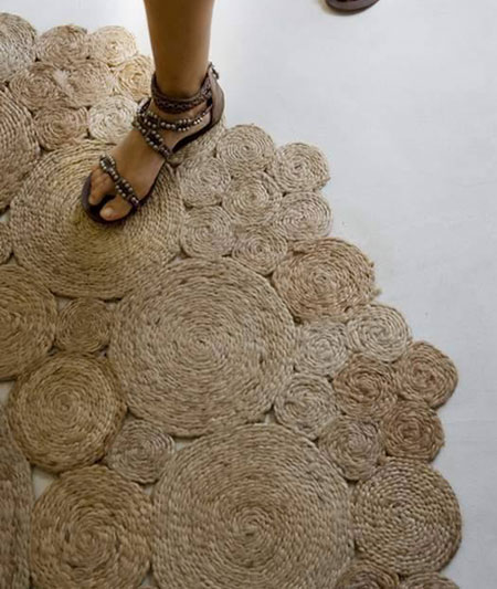 درست کردن پادری های کنفی, درست کردن فرش با نخ های کنفی