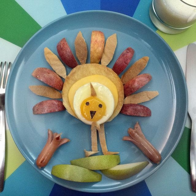 تزیین صبحانه بچه ها - تزیین نیمرو