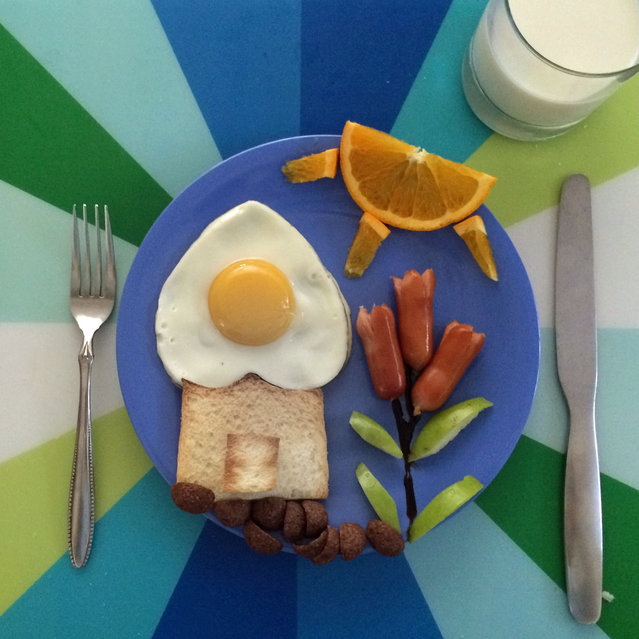 تزیین صبحانه بچه ها - تزیین نیمرو - تزیین غذای بچه