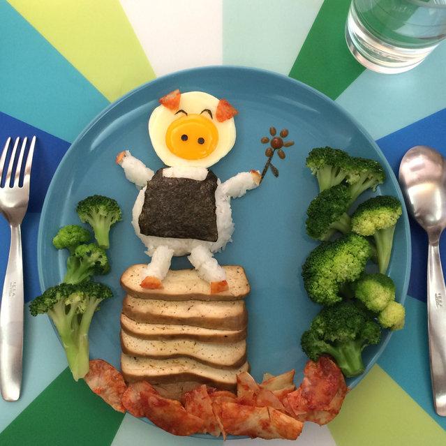 تزیین صبحانه برای بچه ها - تزیین نیمرو - تزیین غذای بچه