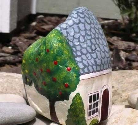 اموزش هنر نقاشی روی سنگ
