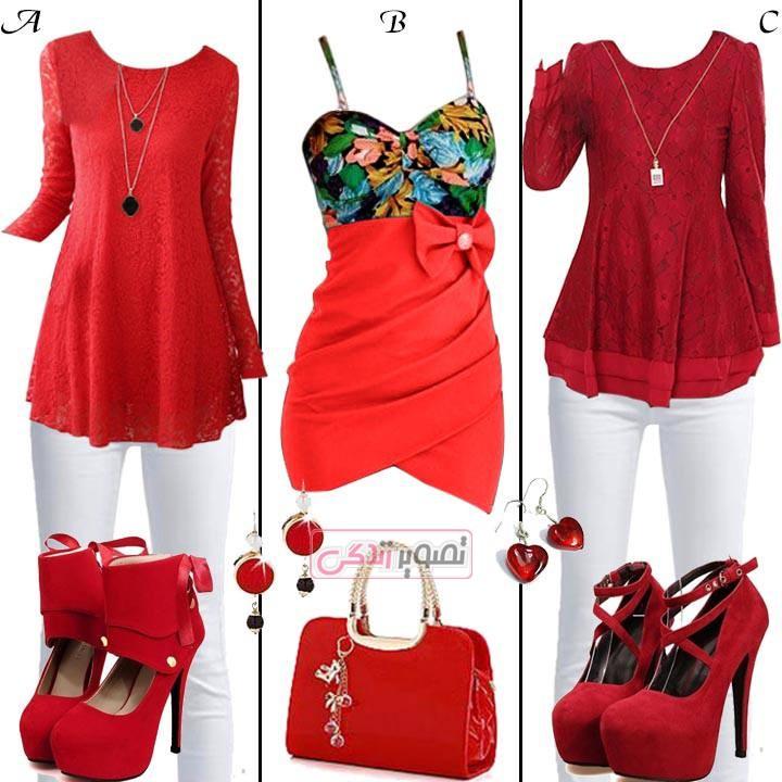 مدل لباس زنانه مدل لباس,کیف,کفش,جواهرات  , مدل های زیبای ست مجلسی دخترانه