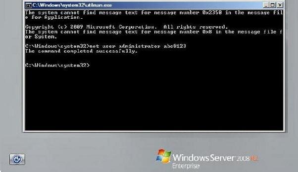 ریست کردن پسورد ویندوز سرور 2008 - فراموش کردن رمز ویندوز سرور 2008