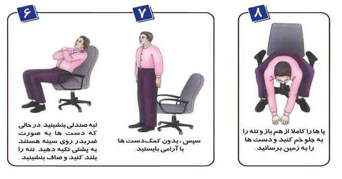ورزش در محل کار, ورزش برای کارمندان,حرکات ورزشی مفید