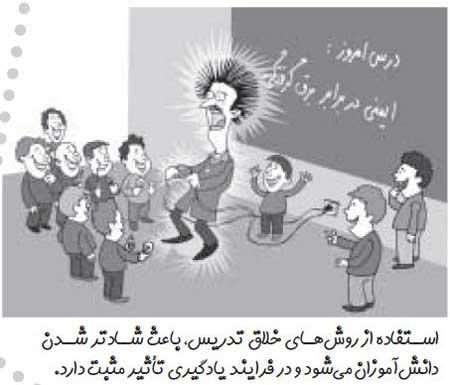 کاریکاتور روز معلم - نقاشی با موضوع شغل معلمی
