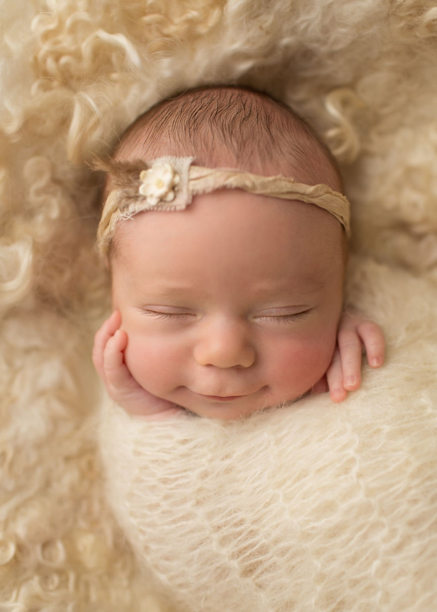 عکس هایی از لبخند شیرین نوزادان - عکس نوزاد - تصاویر زیبا