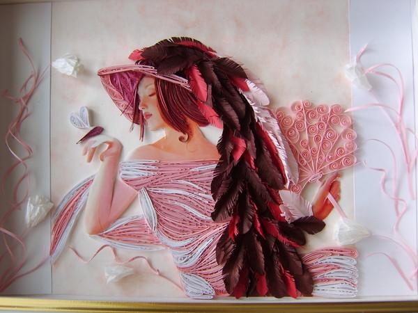 هنر ملیله کاغذی , Quilling  paper - تابلو ملیله کاغذی - کاردستی با کاغذ - کوئیلینگ
