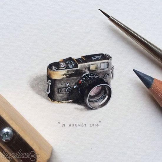 نقاشی های مینیاتوری لورن لوتز - نقاشی های شگفت انگیز کوچک