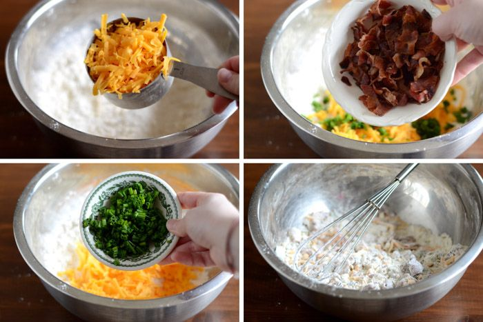 دستور پخت غذا  , طرز تهیه کیک مرغ پنیری (اسکون مرغ)