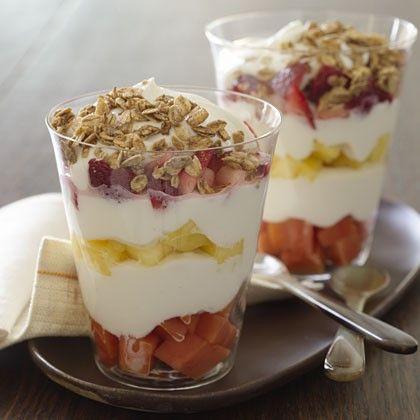 طرز تهیه پارفیت میوه یک دسر مغذی (رژیمی)