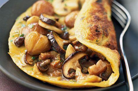 آشپزی آسان غذای رژیمی  , طرز تهیه املت قارچ و سبزی رژیمی