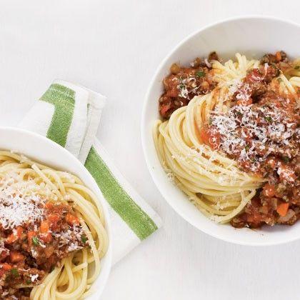 غذای رژیمی  , طرز تهیه اسپاگتی با سس گوشت (رژیمی)