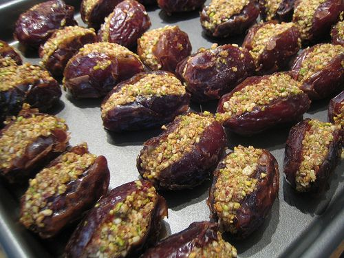 ایده هایی برای تزیین خرما - تزئین خرمای سفره افطار