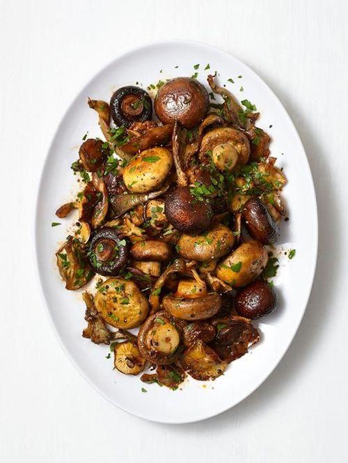 فست فود  , نمونه غذاهای خوشمزه با قارچ