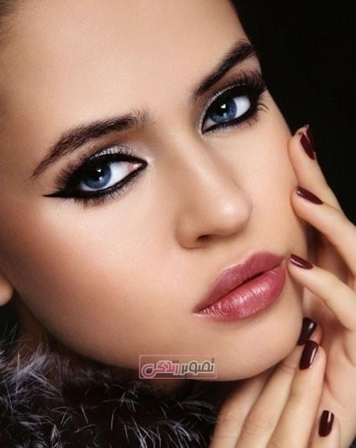 مدل آرایش چهره - میکاپ صورت - آرایش چشم
