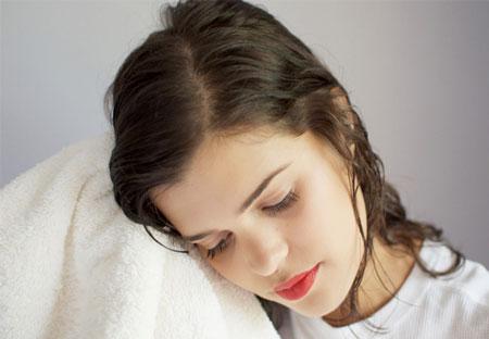 آرایش و زیبایی راز های زیبایی  , روش های خشک کردن موها بطور طبیعی