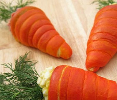 سالاد الویه به شکل هویج