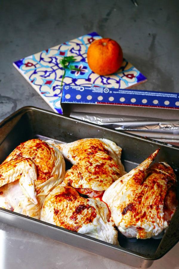 طرز تهیه مرغ ترش تنوری