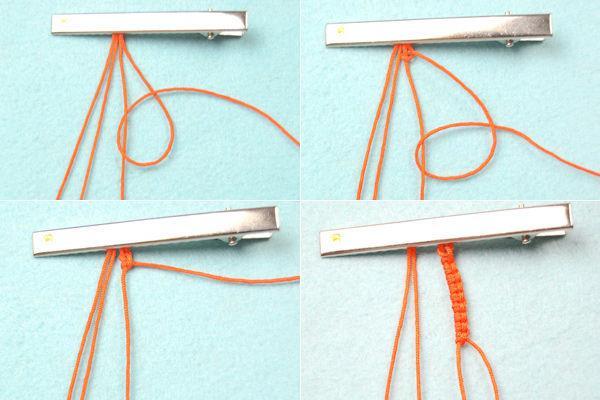 بافت یک دستبند پاییزی زیبا