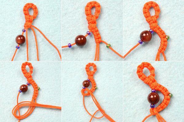 آموزش بافت دستبند زیبا با نخ و مهره - آموزش تصویری ساخت زیورآلات