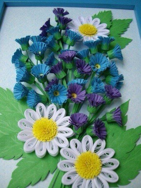 تابلوهای زیبای ساخته شده با کاغذهای رنگی