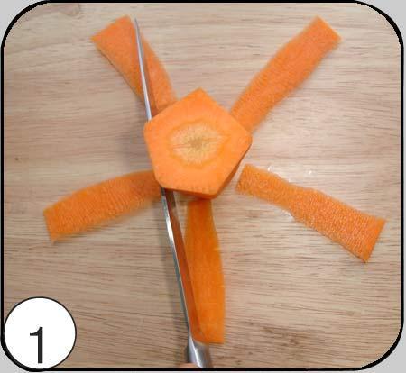 آموزش تزیین هویج به شکل گل