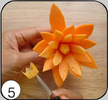 آموزش تزئین هویج - سبزی آرایی - مدل تزئین هویج