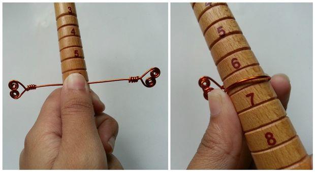 حلقه پیچی طرح دو قلب