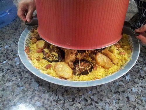 طرز تهیه مقلوبه مرغ