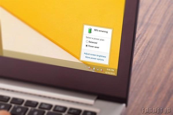 صرفه جویی در شارژ باتری لپ تاپ