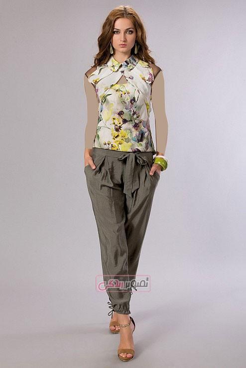 مدل لباس بهاری زنانه - تی شرت و شلوار زنانه