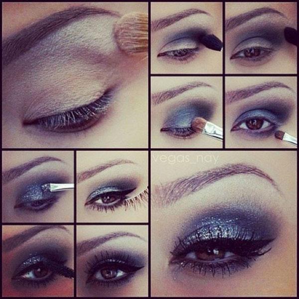 روش آرایش چشم - آموزش میکاپ چشم - سایه زدن - کشیدن خط چشم