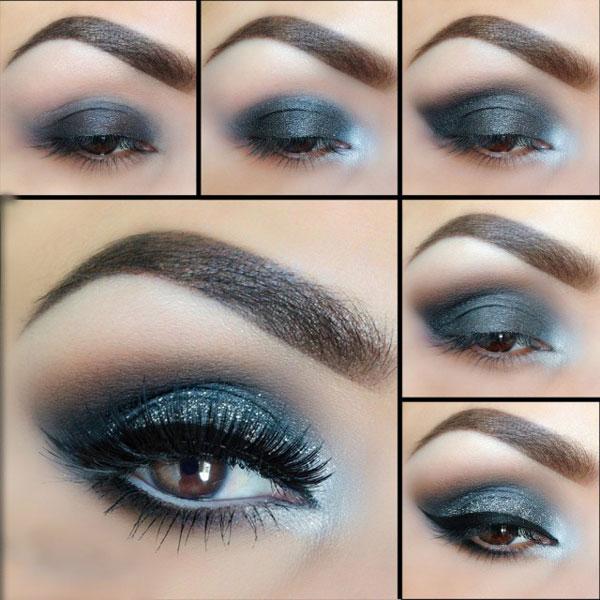 روش آرایش چشم ها - آموزش میکاپ چشم - سایه زدن - کشیدن خط چشم
