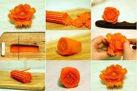 چند نمونه تزئین هویج