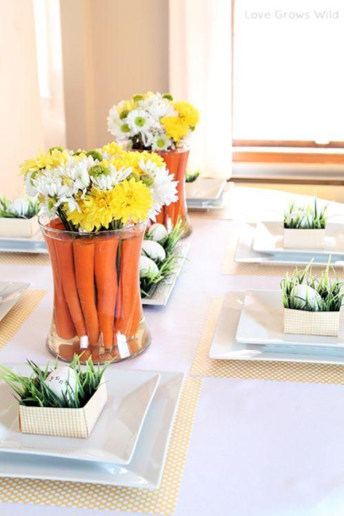استفاده از هویج - کاربرد هویج - تزیین گلدان با هویج